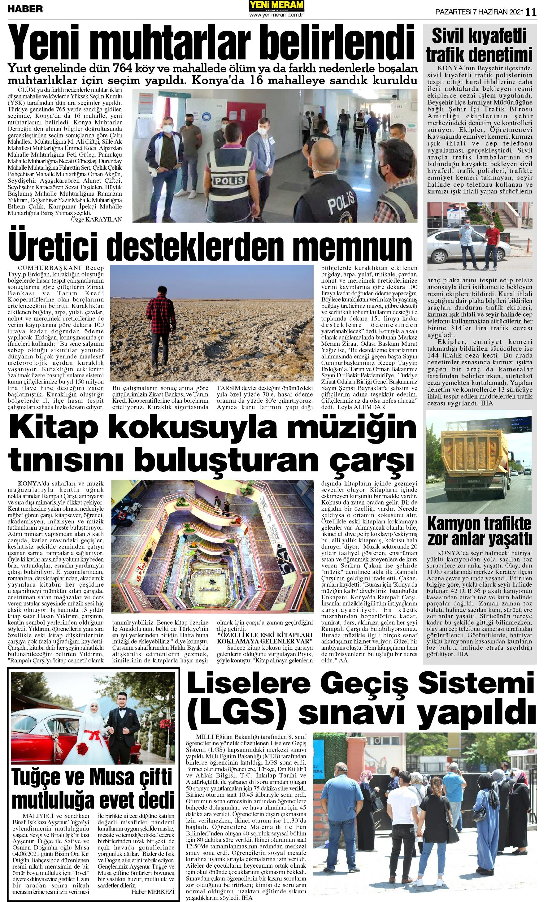 7 Haziran 2021 Yeni Meram Gazetesi