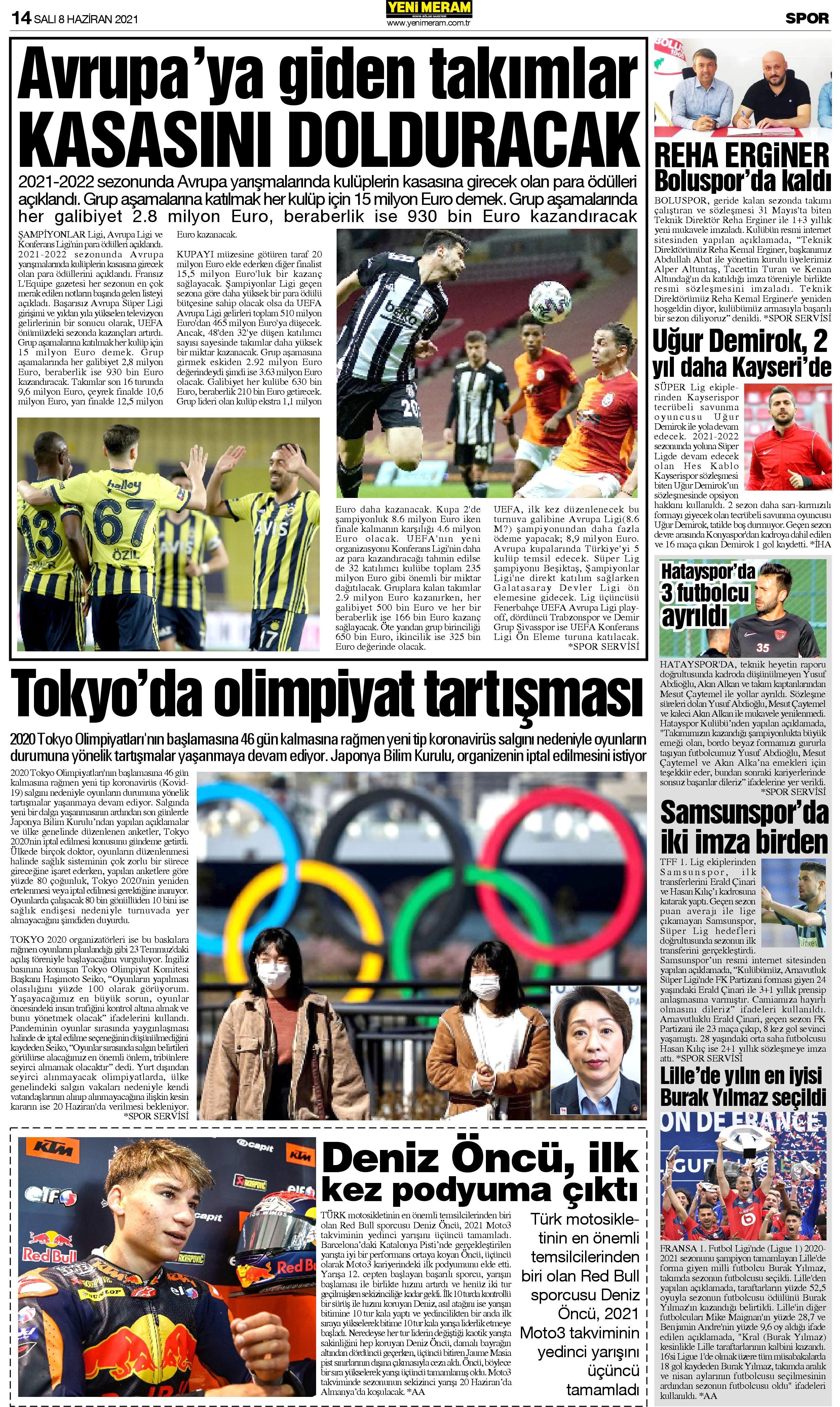 8 Haziran 2021 Yeni Meram Gazetesi