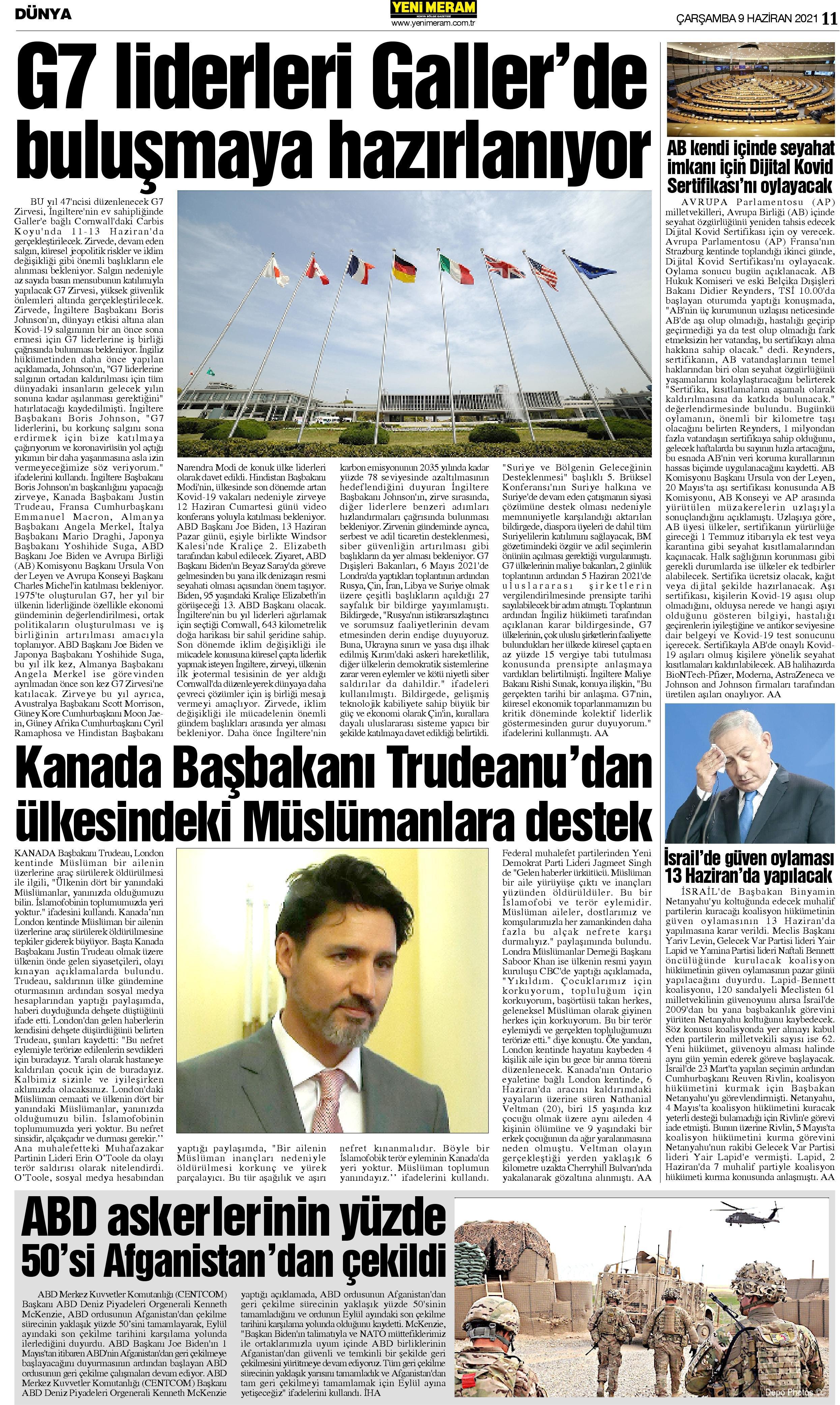 9 Haziran 2021 Yeni Meram Gazetesi
