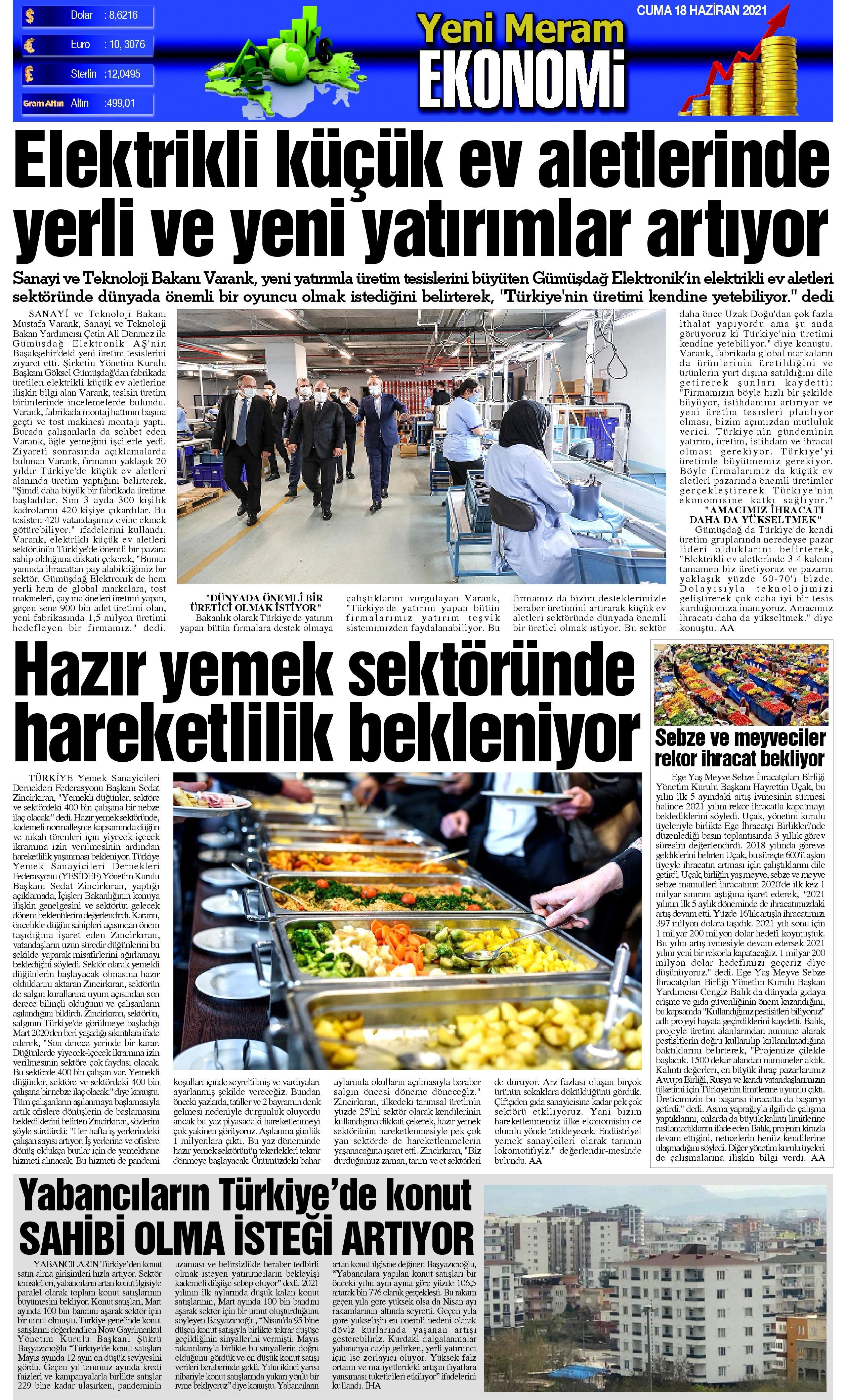 18 Haziran 2021 Yeni Meram Gazetesi